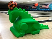 Glow Green Dragon Bowling Ball Ramps (Pair)